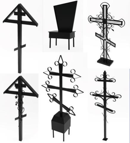 Металлическая оградка, кресты в Иркутске - Ритуальное агентство СПАС